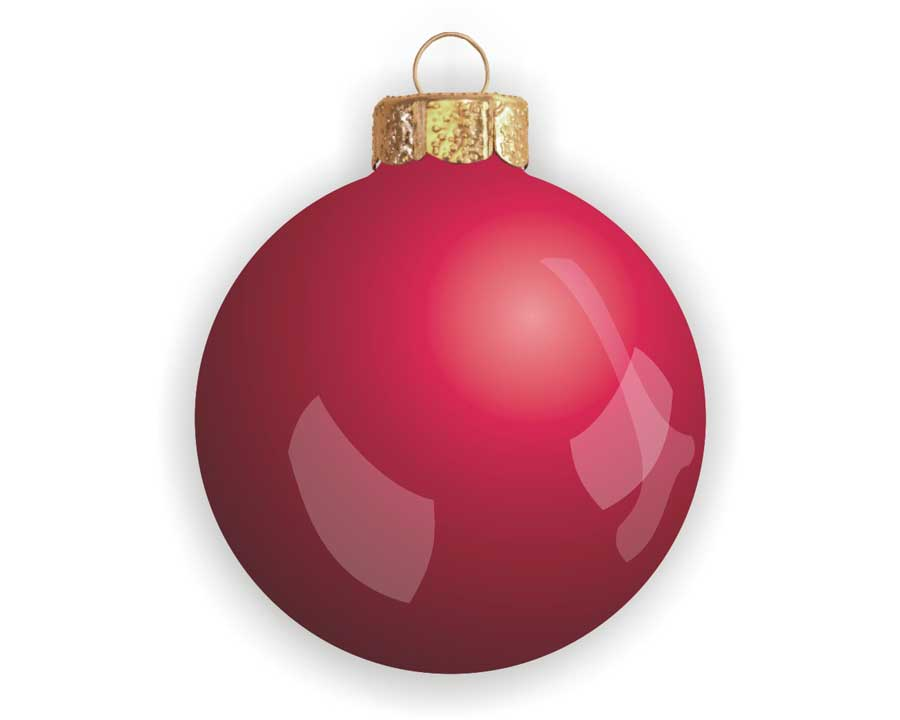 Glass ball ornament - white background